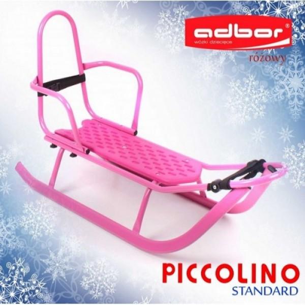 Детские санки Adbor Piccolino розовый