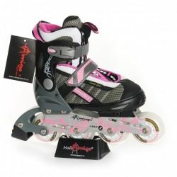 POWERFLEX  Роликовые коньки Amigosport розовый