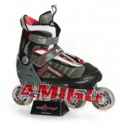 POWERFLEX  Роликовые коньки Amigosport  красный